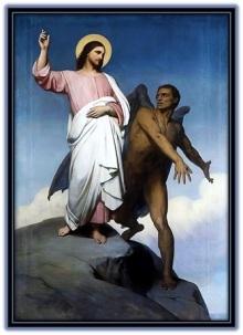 Jesús tentado por el demonio