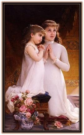Niñas rezando