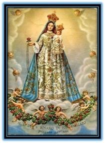 Nuestra Señora del Rosario y ángeles