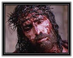 Rostro de Jesús coronado de espinas
