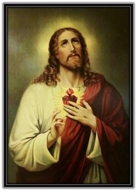 Sagrado Corazón de Jesús mirando al Padre