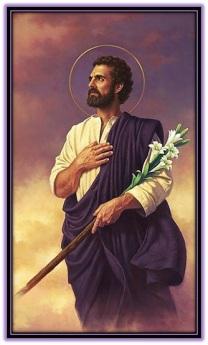 San José con el bastón florido