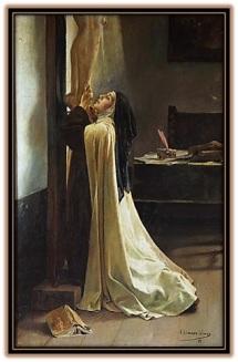 Santa Teresa al pie de la Cruz