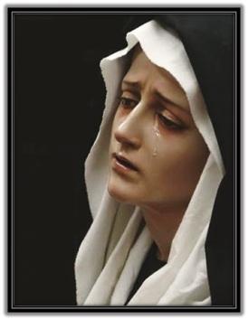 Virgen Dolorosa llorando