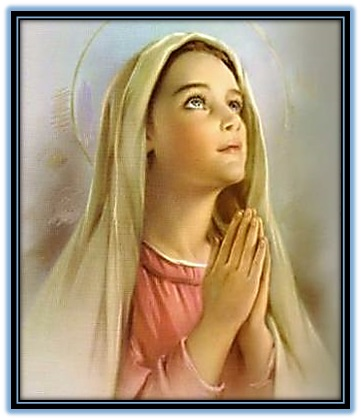 Virgen Niña en oración