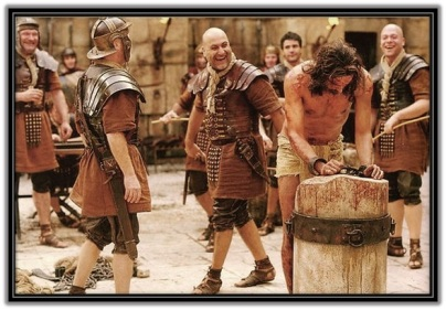 Jesús atado en la columna y flagelación