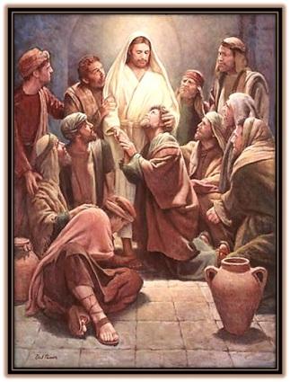 Jesús con los Apóstoles