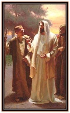 Jesús con los dos Discípulos camino Emaús