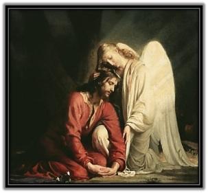 Jesús consolado por el Ángel