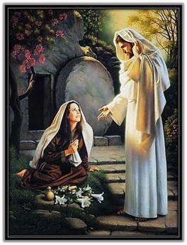 Jesús se aparece a María