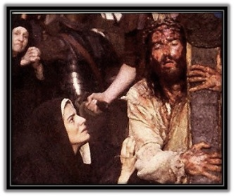 María y Jesús con la Cruz