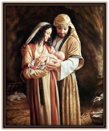 Niño jesús, José y María.