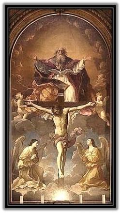 Santísima Trinidad - Y sus ángeles adorando