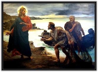 Jesús, Pedro y Juan