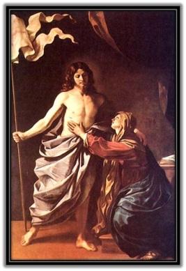 Jesús Resucitado y aparición asu Madre