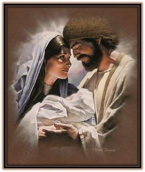 María con el Niño en brazos y José
