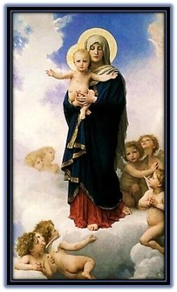 María - Niño Jesús y ángeles