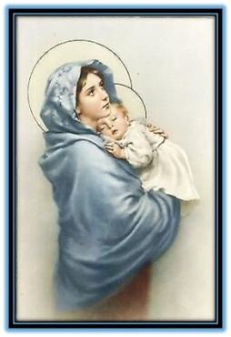 María y el Niño Jesús dormiendo