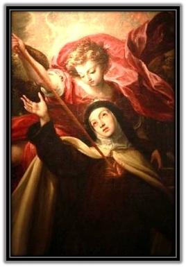 Santa Teresa de Jesús y el ángel