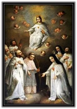 Virgen de la Merced y santos Mercedarios