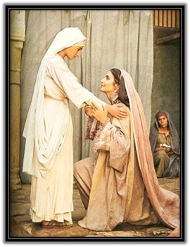 Visitación de Virgen María a Santa Isabel