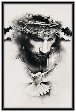 Imagen Jesús coronado de espinas y Espíritu Santo