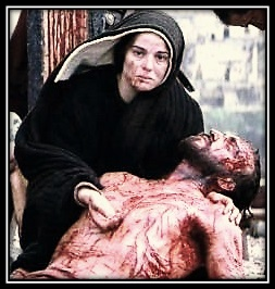 María con Jesús en brazos