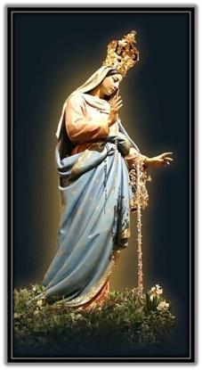 María coronada y rosario