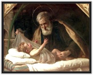 San José - Niño Jesús con los brazos abiertos