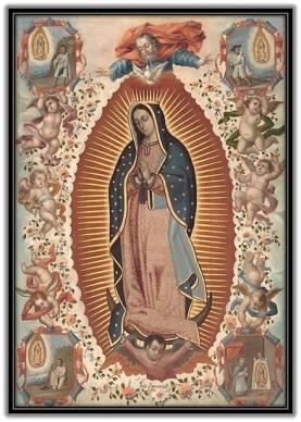 Virgen de Guadalupe - Rodeada de ángeles