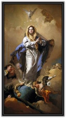 Virgen María pisando la serpiente