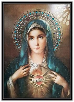 Corazón de María - corona de piedras preciosas