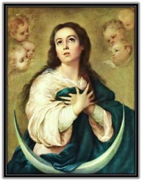Inmaculada Concepción - con la luna