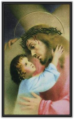 Jesús consolado por un niño