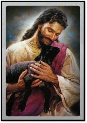 Jesús y la oveja perdida