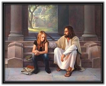 Jesús y niña