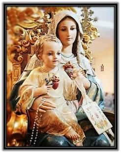 María - Niño Jesús Escapulario y rosario