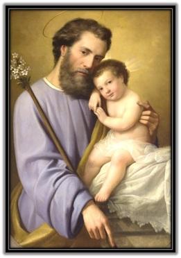 San José abrazado al Niño Jesús