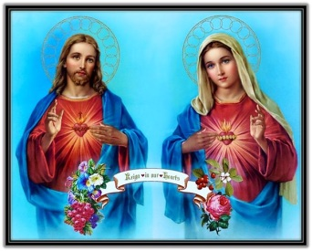 Corazones de Jesús y de María - Vid y Rosa
