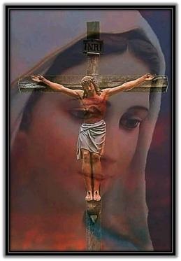 Jesús Crucificado y la Virgen María
