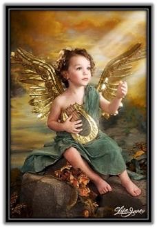 Ángel con una lira