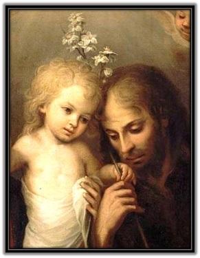San José con el bastón - Niño Jesús