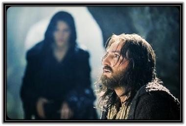 Jesús en el huerto de los olivos y Satanás