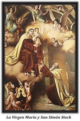 La Virgen María y San Smón Stock