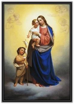 María - Niño Jesús - Juan Bautista