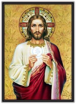 Jesús ofreciendo Su Cuerpo Sacramentado
