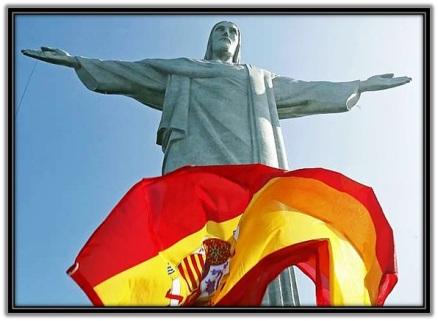 Jesús y la bandera Española