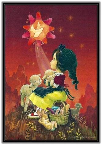 Comic Pastorcilla mirando estrella