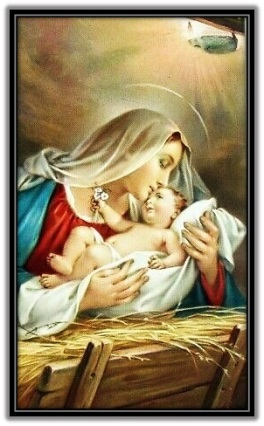 María acariciando a Jesús