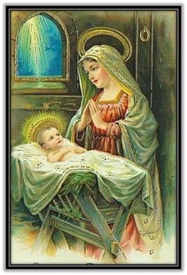 María en oración al Niño Jesús